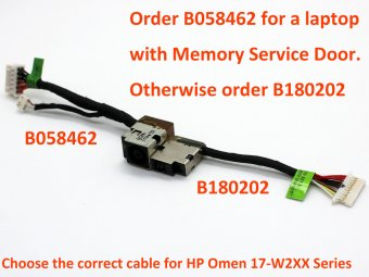 Hp Omen 17 W253dx 17 W255nz 17 W260nd 17 W260nz 17 W270nd 17 W271nw 17 W273nr Power Jack Connector Plug Port Dc In Cable Input 24 99