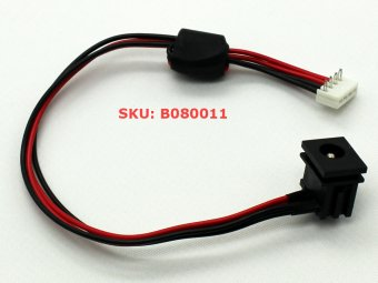 DC power jack in cable harness for TOSHIBA SATELLITE L305-S5919 L305-S5920