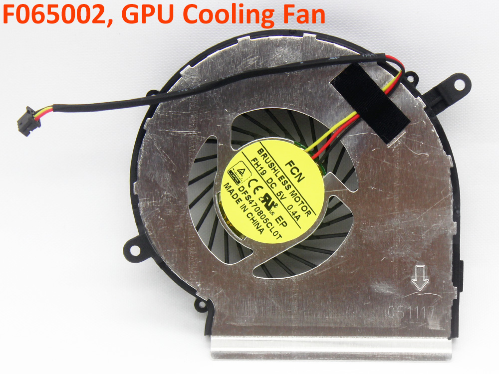 CPU GPU Cooling Fan for MSI MS-16J7 MS16J7 CR62 CX62 6ML 7ML 6QL 7QL Series Inside Cooler Assembly New Genuine